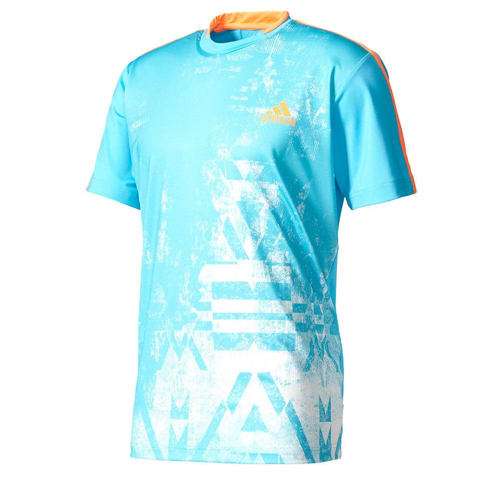 Men's Essex Trend Tennis Tee Samba Blue And White