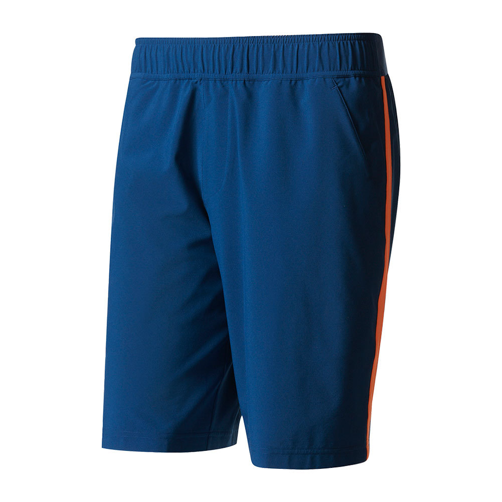 Men's Essex Tennis Short Mystery Blue And Glow Orange