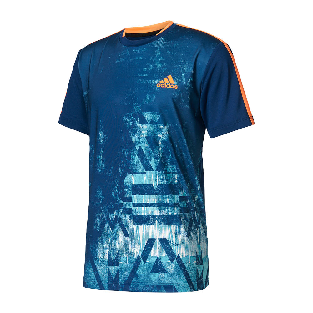 Men's Essex Trend Tennis Tee Mystery Blue And Glow Orange