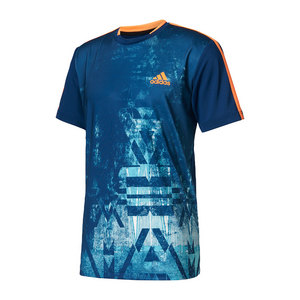Men`s Essex Trend Tennis Tee Mystery Blue and Glow Orange