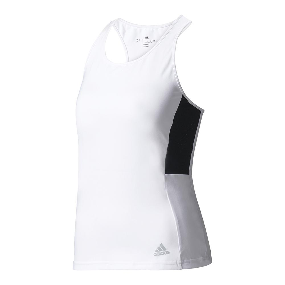 Women's Advantage Tennis Tank White And Black