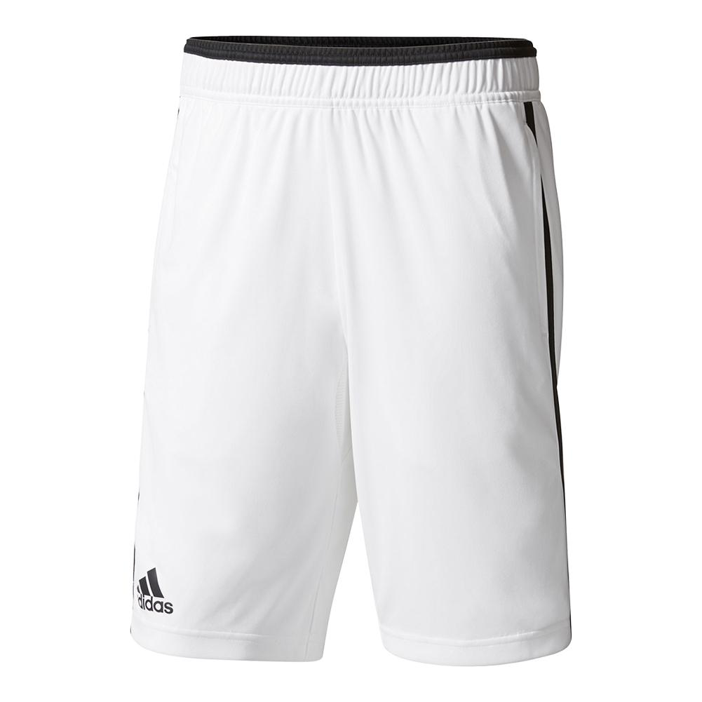 Men's Advantage Bermuda Tennis Short White And Black