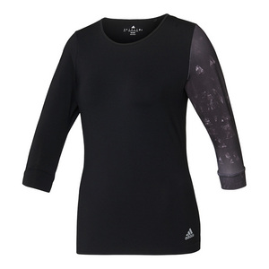 Women`s Essex Three-Quarter-Sleeve Tennis Tee Black