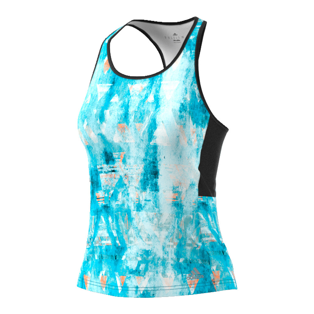 Women's Essex Trend Tennis Tank Samba Blue And White