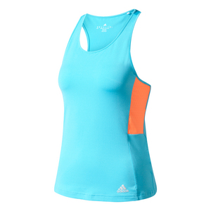 Women`s Essex Tennis Tank Samba Blue and Glow Orange