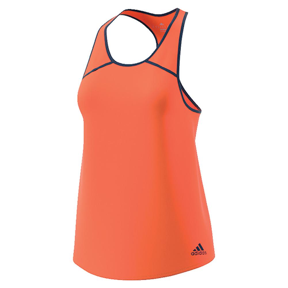 Women's Club Tennis Tank Glow Orange And Mystery Blue