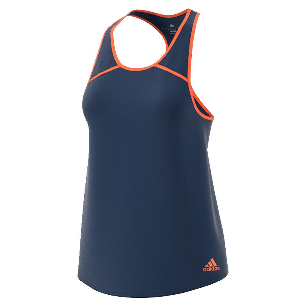 Women's Club Tennis Tank Mystery Blue And Glow Orange