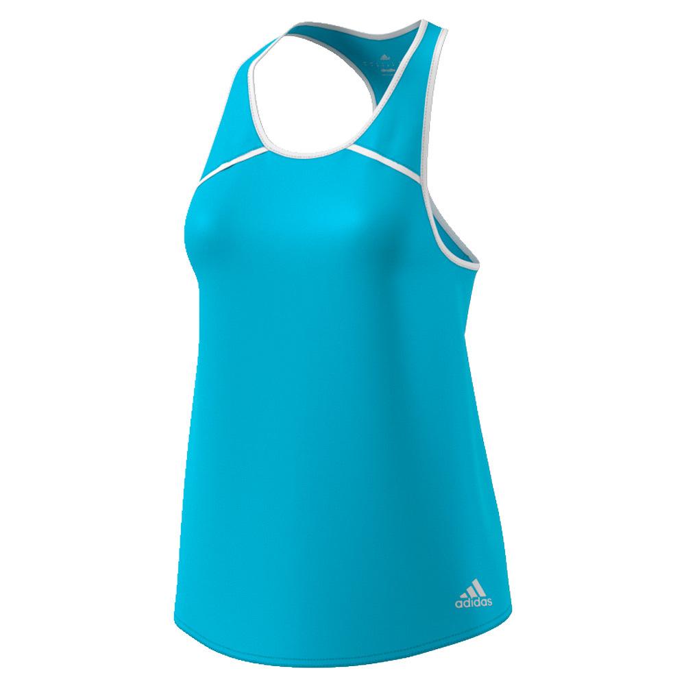 Women's Club Tennis Tank Samba Blue And White