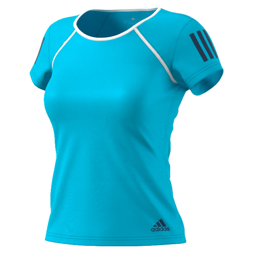 Women's Club Tennis Tee Samba Blue And White