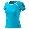 ADIDAS Women`s Club Tennis Tee Samba Blue and White
