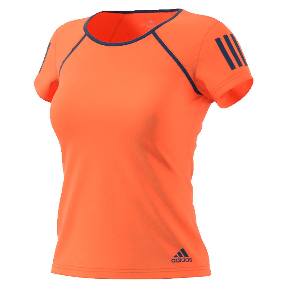 Women's Club Tennis Tee Glow Orange And Mystery Blue