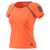 ADIDAS Women`s Club Tennis Tee Glow Orange and Mystery Blue