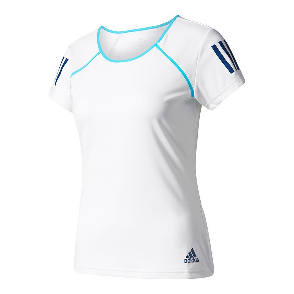 Women's Club Tennis Tee White And Samba Blue