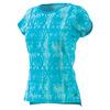 ADIDAS Women`s Club Trend Tennis Tee Samba Blue Print