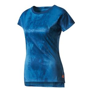 Women`s Club Trend Tennis Tee Mystery Blue Print
