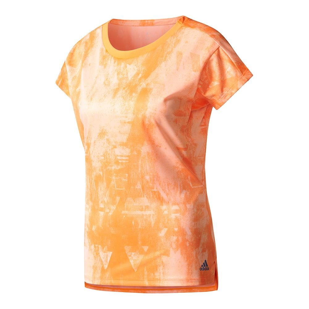 Women's Club Trend Tennis Tee Glow Orange Print