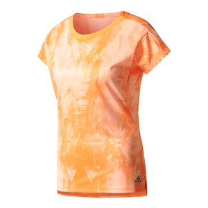 Women`s Club Trend Tennis Tee Glow Orange Print