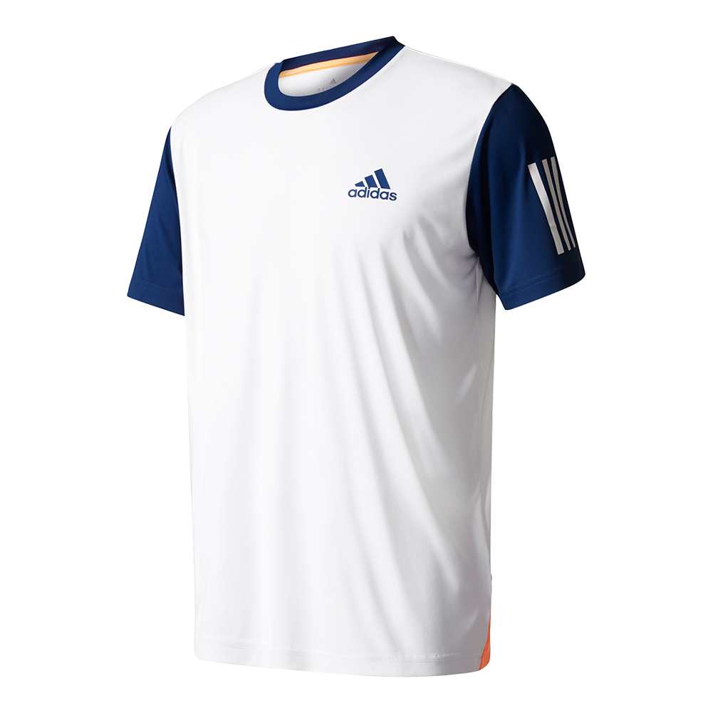 Men's Club Tennis Tee White And Mystery Blue