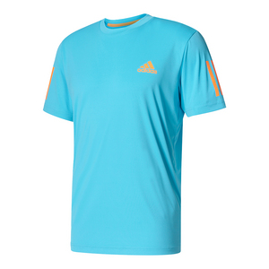 Men`s Club Tennis Tee Samba Blue and Glow Orange