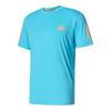 ADIDAS Men`s Club Tennis Tee Samba Blue and Glow Orange