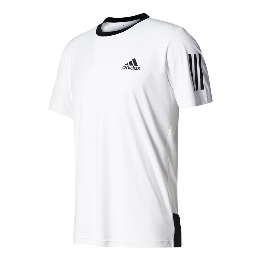 Men's Club Tennis Tee White And Black