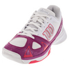 WILSON Women`s Rush Evo Tennis Shoes White and Fiesta Pink