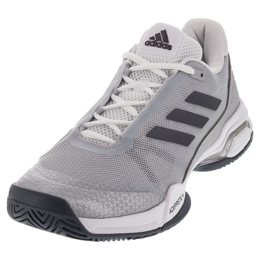 s barricade club tennis shoes metallic and white
