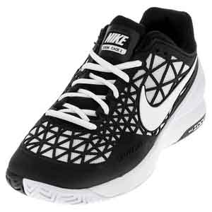 Men`s Zoom Cage 2 Tennis Shoes Black and White