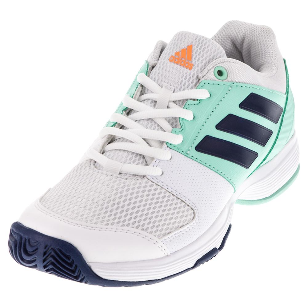 Women's Barricade Court Tennis Shoes White And Mystery Blue