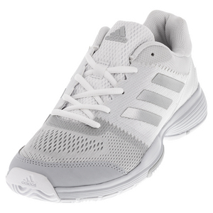 Women`s Barricade Club Tennis Shoes White and Silver Metallic
