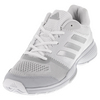 ADIDAS Women`s Barricade Club Tennis Shoes White and Silver Metallic