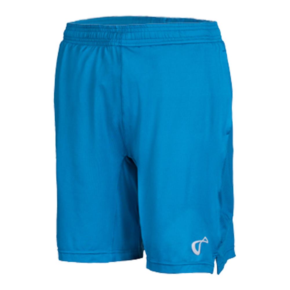 Boys ` Mesh Panel Knit Tennis Short Moroccan Blue