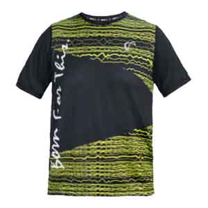 Men`s Short Sleve No Lie Tennis Crew Black