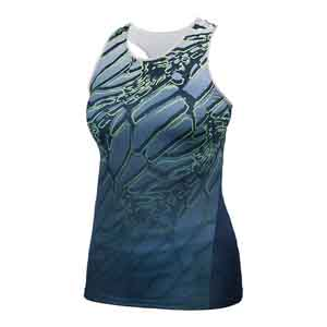 Women`s Mesh Back Dragonfly Racerback Tennis Tank Dress Blue