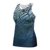 ATHLETIC DNA Women`s Mesh Back Dragonfly Racerback Tennis Tank Dress Blue