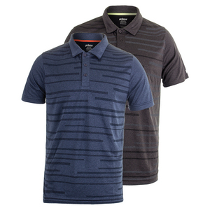 Men`s Heather Box Mesh Tennis Polo