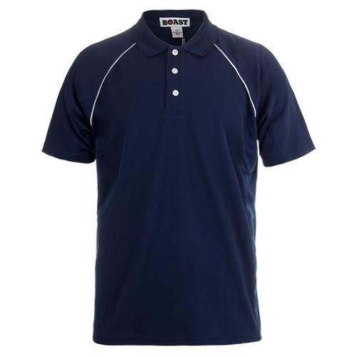 Men's Raglan Court Tennis Polo Navy