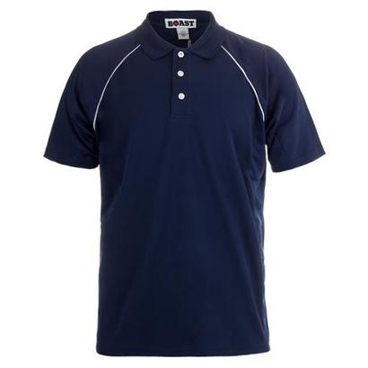 Men`s Raglan Court Tennis Polo Navy