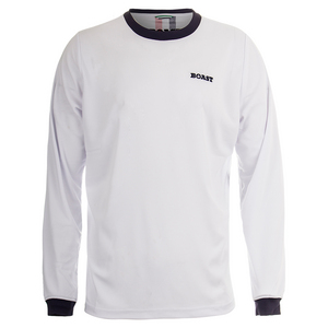 Men`s Long Sleeve Court Tennis Crew White