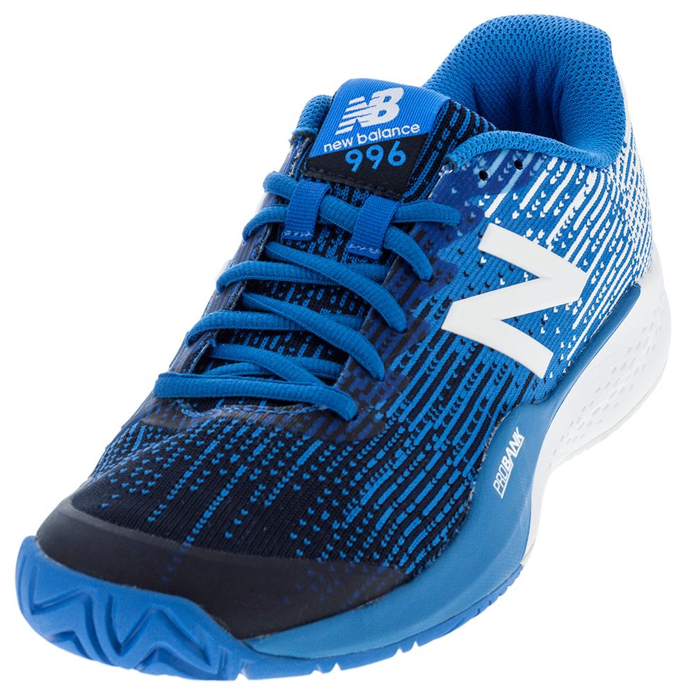Men's 996v3 2e Width Tennis Shoes Blue And White