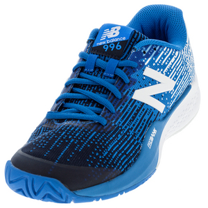 Men`s 996v3 2E Width Tennis Shoes Blue and White