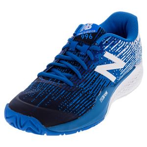 Men`s 996v3 D Width Tennis Shoes Blue and White
