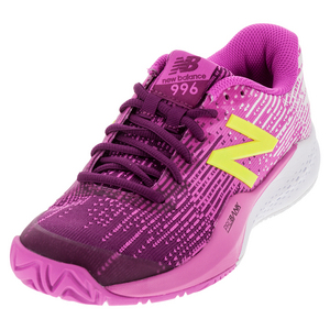 Women`s 996v3 B Width Tennis Shoes Jewel and Firefly