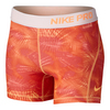 NIKE Girls` Pro Boy Short Peach Cream and White