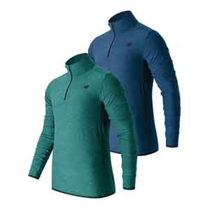 Men`s N Transit Quarter Zip Long Sleeve Tennis Top