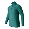 Men`s N Transit Quarter Zip Long Sleeve Tennis Top VJH_VIVID_JADE_HTHR