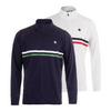 BOAST Men`s Court 1/4 Zip Chest Stripe Tennis Top