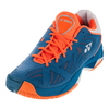 YONEX Men`s Power Cushion Fusion Rev Tennis Shoes Blue and Orange