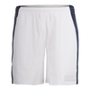 BOAST Men`s 7 Inch Edge Panel Tennis Short White and Navy