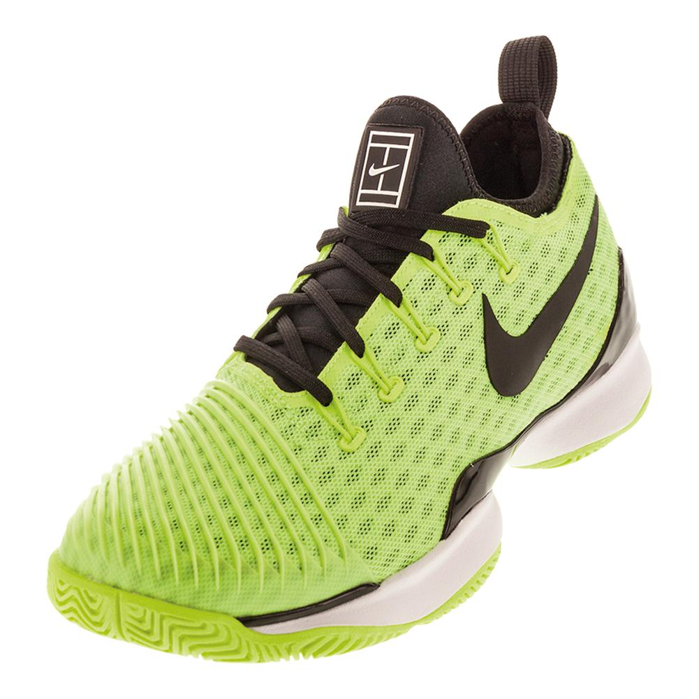 Men's Air Zoom Ultra React Tennis Shoes Volt And Black